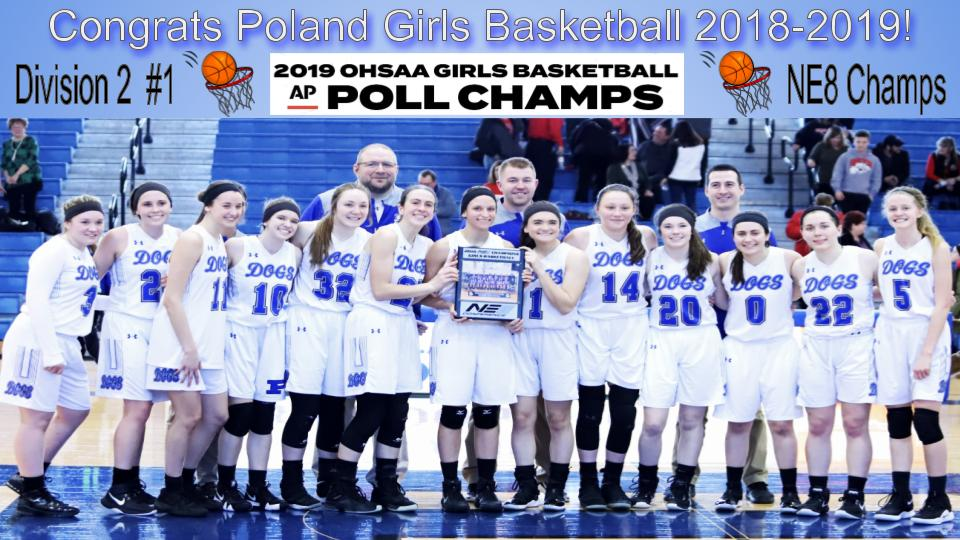 Poland Lady Bulldogs Basketball AP Division 2 #1 and NE8 Champs