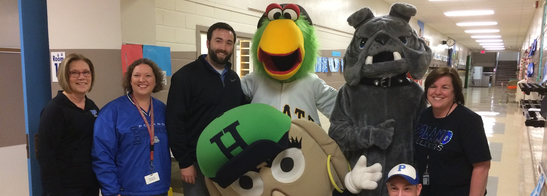 staff with mascots